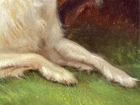 """19th Century Oil Painting Sporting """"Game Dogs"""" Signed Robert Cleminson (42 of 48)"""