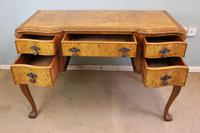 Antique Serpentine Shaped Burr Walnut Side Table (5 of 13)