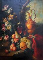 Old Master Revival - Large Original Antique Dutch Still Life of Flowers & Fruit (3 of 12)