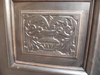 A Trendy Victorian Black 1 Piece 2 Door Antique/Old Pine Extra Large Wardrobe (3 of 9)