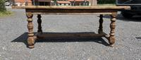 French Rustic Bleached Oak Farmhouse Dining Table (10 of 15)