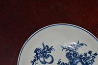 c1770- 78 Liverpool Porcelain Philip Christian Saucer Fruit Sprigs Saucer (7 of 7)