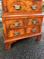Antique Figured Walnut Small Chest Drawers (9 of 10)
