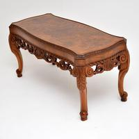Antique Burr Walnut Coffee Table (4 of 9)