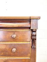 Large Victorian Oak & Mahogany Chest of Drawers (4 of 10)