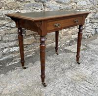 Antique Victorian Walnut Writing Table Desk (4 of 17)