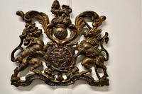 Wall Hanging Victorian Cast Iron Royal Coat of Arms Shield Plaque (5 of 7)