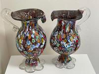 2 Beautiful Italian Murano Fratelli & Torso Millefiori Glass Vases (14 of 34)