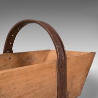 Antique Garden Trug, English, Pine, Horticulture Basket, Victorian c.1900 (9 of 12)