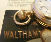 Antique Waltham Pocket Watch 1909 Ladies 7 Jewel 9ct Gold Filled Case With Curious Inscriptions Fwo (11 of 12)
