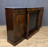 Beautiful Regency Rosewood 3 Door Breakfront Cabinet (5 of 11)