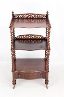 Antique Victorian 3 Tier Rosewood Whatnot (6 of 13)