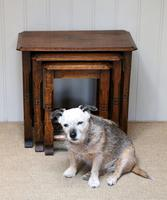 Solid Oak Nest of Three Tables (2 of 9)