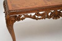 Antique Burr Walnut Queen  Anne Style Coffee Table (7 of 10)