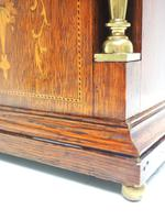 Superb Ansonia Oak Inlaid Mantel Clock Arched Top 8 Day Striking Mantle Clock (3 of 11)