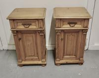 Pair of  Chunky Carved Pine Bedside Cupboards (2 of 6)