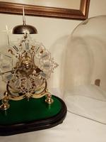 Passing Strike Skeleton Clock. Original Glass Dome (5 of 7)