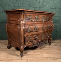Superb Early 20th Century French Walnut Bombe Commode (8 of 9)