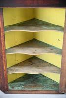 Antique Rustic Oak Hanging Corner Cupboard (8 of 12)