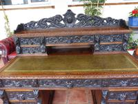 Country Oak Lions Head Pedestal Desk 1850 W M Richardson Ltd (4 of 12)
