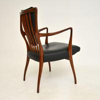 Rosewood & Leather Dining Table & Chairs by AJ Milne for Heals (6 of 22)