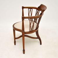 Antique Edwardian  Inlaid Mahogany Corner Chair (7 of 11)