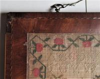 George IV English Adam & Eve Silk on Linen Needlework Sampler, 1825 in Original Frame (9 of 9)