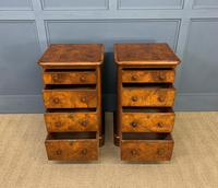 Pair of Burr Walnut Bedside Chest by Heal and Son (9 of 16)