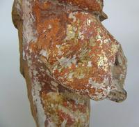 Rare Antique Carved Gilt & Polychrome Figure Saint Paul 17th Century (10 of 10)