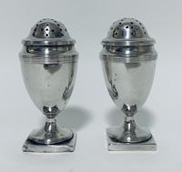 Pair of 18th Century Georgian Solid Sterling Silver Salt and Pepper Shakers Pepperettes (2 of 12)