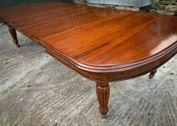 Victorian 3 Leaf Extending Dining Table Seats 10 (5 of 13)