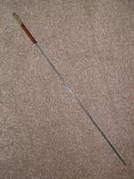 Vintage Bamboo 1953 Queen Elizabeth's Coronation  Brass Topped Sword Stick (3 of 18)