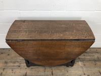 Antique 19th Century Oak Gateleg Dining Table (9 of 10)