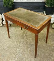 Victorian Mahogany Two-Drawer Writing Desk (8 of 8)