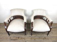 Pair of Victorian Mahogany Tub Chairs (3 of 17)
