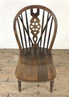 Set of Six 20th Century Wheelback Chairs including Two Carvers (11 of 20)