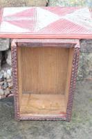 Scandinavian / Swedish 'Folk Art' painted & geometric chip-carved timplåda / sliding-lid box early 19th Century. (7 of 11)