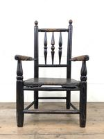 Antique 19th Century Provincial Oak Child's Chair (3 of 8)