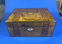 Victorian Burr Walnut  Box With Tunbridge Ware Inlay. (7 of 12)