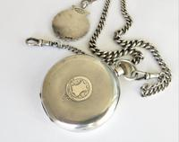 Antique Swiss silver pocket watch and chain (3 of 5)
