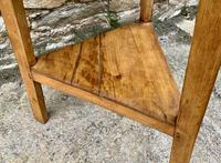 Antique Pine Cricket Table with Shelf (6 of 11)