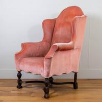Attractive Large Early 20th Century Wingback Armchair (13 of 13)