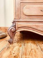 French Vintage Chest of Drawers / Antique Style Washstand / Marble Chest (6 of 9)