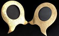 Pair of Brass Art Nouveau Easel Photo Frames (2 of 4)