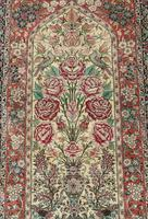 Fine Silk Carpet Rug Roses (2 of 9)