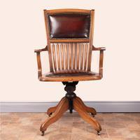 Teak Revolving Office Desk Chair (6 of 17)