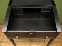Antique Painted Black Clerks Desk (7 of 17)