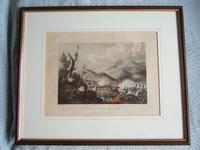 """Aquatint of the """"Battle of Busaco Sept 27th 1810"""", Pub. by James Jenkins in """"Martial Achievements of Great Britian & Her Allies 1799-1815"""" (2 of 6)"""