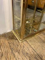 Pair of 1920s Brass Shop Display Cabinets (8 of 8)