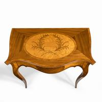 Victorian Inlaid Satinwood & Kingwood Table in the Style of Hepplewhite (2 of 10)